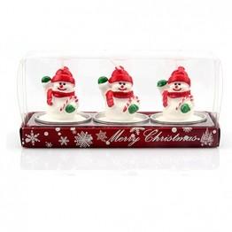 Demarkt Weihnachtsfiguren Kerzen Teelicht Weihnachten Party Dekoration 16 * 4 * 5CM - 1