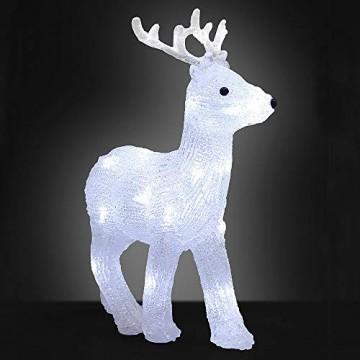 Deuba LED Acryl Figur Weihnachtsdeko Beleuchtung Weihnachten Hirsch Indoor Outdoor - 1
