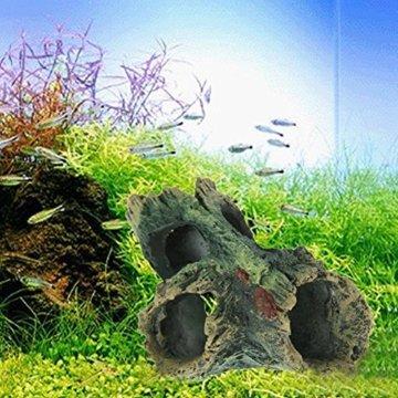 domybest Kunstharz Aquarium Weihnachtsbaumschmuck Künstliche Treibholz für Fisch Tank ornament - 3