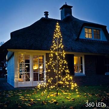 Fairybell LED Weihnachtsbaum, 360 Lichter, warmweiß, inkl. Mast, ca. 300x150 cm - 1