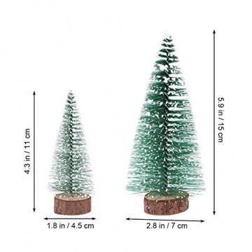 FENICAL Mini Weihnachtsbaum Künstlicher Weihnachtsbaum Christbaum Grün Tannenbaum künstliche Tanne 6pcs - 2