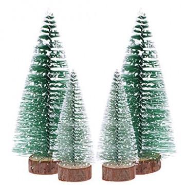 FENICAL Mini Weihnachtsbaum Künstlicher Weihnachtsbaum Christbaum Grün Tannenbaum künstliche Tanne 6pcs - 1