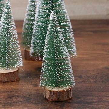 FENICAL Mini Weihnachtsbaum Künstlicher Weihnachtsbaum Christbaum Grün Tannenbaum künstliche Tanne 6pcs - 6