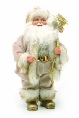 Festive Weihnachtsmannfigur, 30cm, Goldfarben/Cremefarben - 1