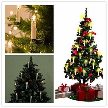 Froadp 30 Stück Dimmbare LED Mini Weihnachtskerzen mit Fernbedienung Kabellos Christbaumkerzen für Weihnachtsbaum deko Geburtstagsdeko Kerzen Satz(Warmweiß) - 2