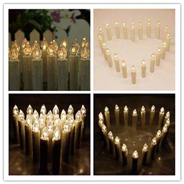 Froadp 30 Stück Dimmbare LED Mini Weihnachtskerzen mit Fernbedienung Kabellos Christbaumkerzen für Weihnachtsbaum deko Geburtstagsdeko Kerzen Satz(Warmweiß) - 5