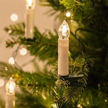 Froadp LED Kerzen 30 Stück mit Fernbedienung und Batterien Warmweiß LED Weihnachtskerzen Weinachten für Weihnachtsbaum, Weihnachtsdeko, Hochzeitsdeko - 3