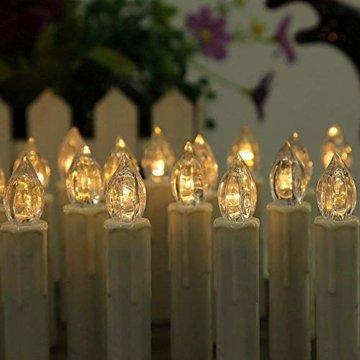 Froadp LED Kerzen 30 Stück mit Fernbedienung und Batterien Warmweiß LED Weihnachtskerzen Weinachten für Weihnachtsbaum, Weihnachtsdeko, Hochzeitsdeko - 6