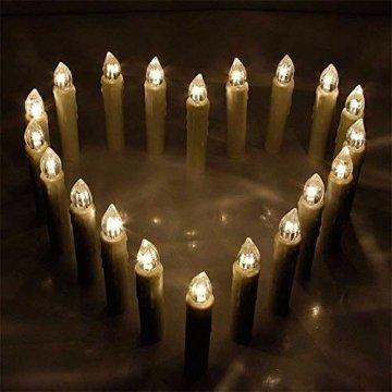 Froadp LED Kerzen 30 Stück mit Fernbedienung und Batterien Warmweiß LED Weihnachtskerzen Weinachten für Weihnachtsbaum, Weihnachtsdeko, Hochzeitsdeko - 7