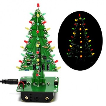 Gikfun EK1719U 3D-Weihnachtsbaum-LED-Heimwerker-Kit mit Blitzschaltung, LED - 1