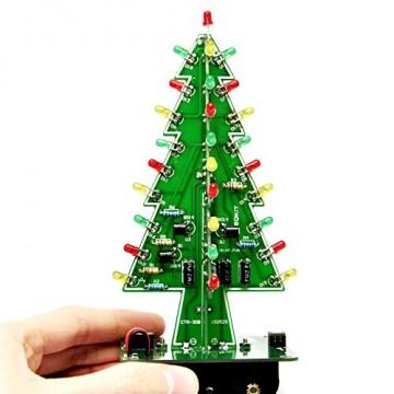 Gikfun EK1719U 3D-Weihnachtsbaum-LED-Heimwerker-Kit mit Blitzschaltung, LED - 2