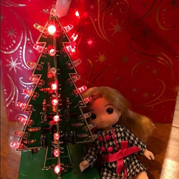 Gikfun EK1719U 3D-Weihnachtsbaum-LED-Heimwerker-Kit mit Blitzschaltung, LED - 3