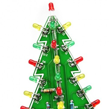 Gikfun EK1719U 3D-Weihnachtsbaum-LED-Heimwerker-Kit mit Blitzschaltung, LED - 4