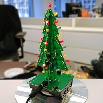 Gikfun EK1719U 3D-Weihnachtsbaum-LED-Heimwerker-Kit mit Blitzschaltung, LED - 6