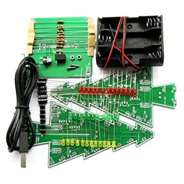 Gikfun EK1719U 3D-Weihnachtsbaum-LED-Heimwerker-Kit mit Blitzschaltung, LED - 7