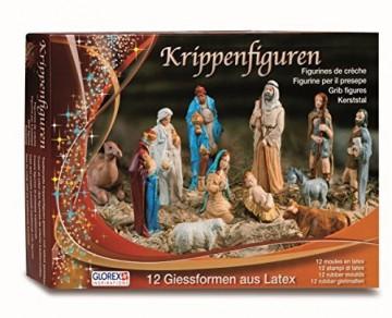 Glorex Latex Krippenfiguren Set, Andere, Mehrfarbig, 31 x 22 x 6,5 cm - 1