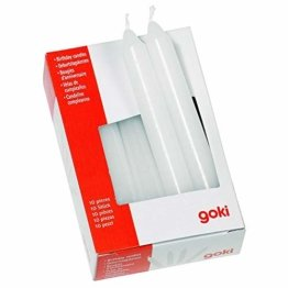 Goki 15051 - Dekoration - Geburtstagskerzen-Set für GK 106/108/55985/60975 Weiß - 1