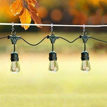 Gosse Aufhänger für Lichter, Coideal 40 Pack Party Licht Aufhänger Clips mit S-Haken zum Aufhängen, Vorhang Edelstahlclip/Metall Drahthalter für Seil Lichterketten, Outdoor-Aktivitäten (Silber) - 8