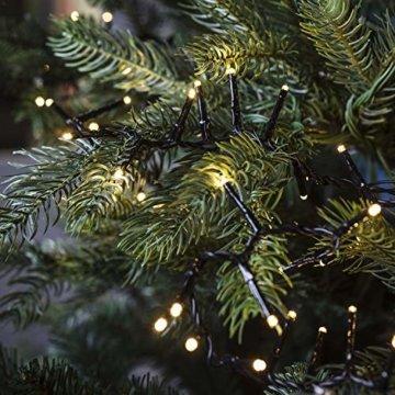 gresonic-Led-Cluster-20m lang-Lichterkette-Strombetrieb Deko für Innen Außen Garten Weihnachtsbaum Hochzeit (Warmweiss Dauerlicht, 1000LED) - 2