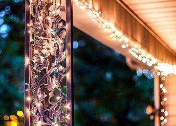 gresonic-Led-Cluster-20m lang-Lichterkette-Strombetrieb Deko für Innen Außen Garten Weihnachtsbaum Hochzeit (Warmweiss Dauerlicht, 1000LED) - 3