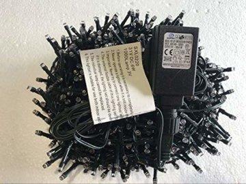 gresonic-Led-Cluster-20m lang-Lichterkette-Strombetrieb Deko für Innen Außen Garten Weihnachtsbaum Hochzeit (Warmweiss Dauerlicht, 1000LED) - 4