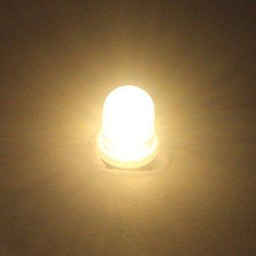 GutReise 10pcs E10 3V spot led birne lampen warm weiß + 10pcs e10 basis (3 v, Warm - weiß) - 3