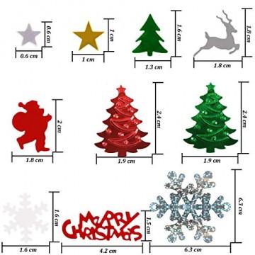 GWHOLE 100g Metallic Konfetti Weihnachten Tischdeko Streudeko DIY Handwerk Basteln - 3