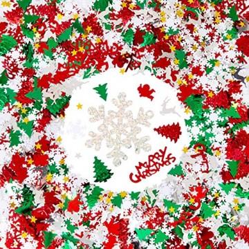 GWHOLE 100g Metallic Konfetti Weihnachten Tischdeko Streudeko DIY Handwerk Basteln - 1