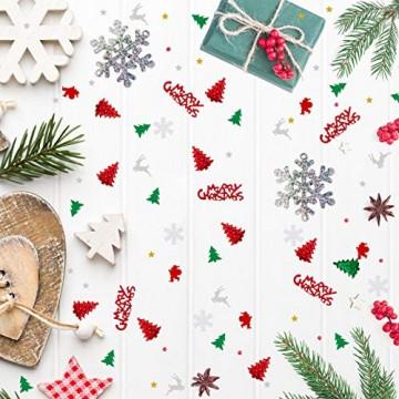 GWHOLE 100g Metallic Konfetti Weihnachten Tischdeko Streudeko DIY Handwerk Basteln - 6
