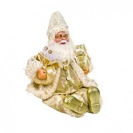 Happyyami Weihnachtsmann-Puppe-Weihnachten Ornament Dekoration Weihnachten Tisch Weihnachtsmann-Figur sitzt (golden) - 1