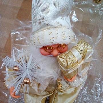 Happyyami Weihnachtsmann-Puppe-Weihnachten Ornament Dekoration Weihnachten Tisch Weihnachtsmann-Figur sitzt (golden) - 4