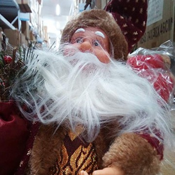 Happyyami Weihnachtsmann-Puppe-Weihnachten Ornament Dekoration Weihnachten Tisch Weihnachtsmann-Figur sitzt (rot) - 3