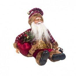 Happyyami Weihnachtsmann-Puppe-Weihnachten Ornament Dekoration Weihnachten Tisch Weihnachtsmann-Figur sitzt (rot) - 1