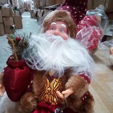 Happyyami Weihnachtsmann-Puppe-Weihnachten Ornament Dekoration Weihnachten Tisch Weihnachtsmann-Figur sitzt (rot) - 5