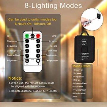 HAUSPROFI 15M 200 LEDS Lichterschlauch mit Fernbedienung,Lichterkette, 8 Modi und Helligkeit dimmbar, Strombetrieben,Wasserdicht, Ideal für Aussen, Weihnachtsbeleuchtung, Deko, Party, Feier, Hochzeit - 5