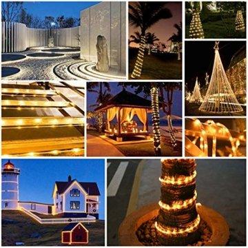 HAUSPROFI 15M 200 LEDS Lichterschlauch mit Fernbedienung,Lichterkette, 8 Modi und Helligkeit dimmbar, Strombetrieben,Wasserdicht, Ideal für Aussen, Weihnachtsbeleuchtung, Deko, Party, Feier, Hochzeit - 7