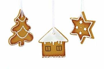 HEITMANN DECO Christbaumschmuck Lebkuchen mit Zuckerguss - Verschiedene Motive Weihnachtsdeko - 6-teilig - 2