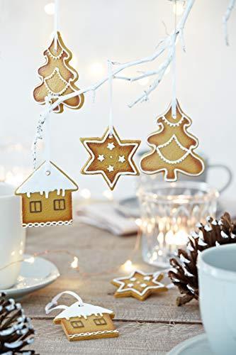 HEITMANN DECO Christbaumschmuck Lebkuchen mit Zuckerguss - Verschiedene Motive Weihnachtsdeko - 6-teilig - 3