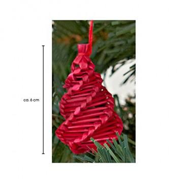 HEITMANN DECO Weihnachtsbaum-Schmuck - Behang-Set aus Kunststoff - Christbaum-Anhänger - 12-teilig - rot/Gold - 3