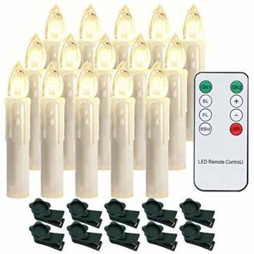 Hengda 30er LED Kerzen Dimmbar Weihnachtskerzen Kerzenlichter Flammenlose für Weihnachtsbaum, Weihnachtsdeko, Hochzeit, Geburtstags, Party, Warmweiß - 1