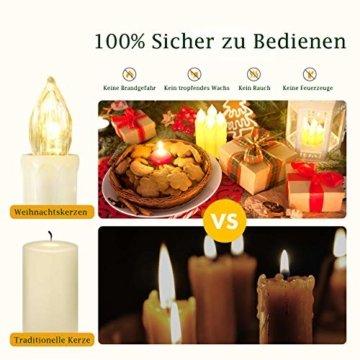 Hengda 30er LED Weihnachtskerzen mit Fernbedienung Timer Warmweiß Dimmbar Kerzen mit Batterien Weihnachtskerzen Christbaumkerzen Kabellos - 7