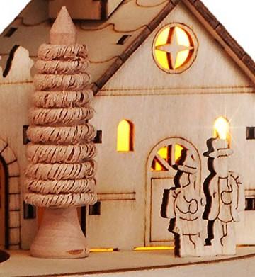 HI Beleuchtete Weihnachtsstadt ca. 28 cm Deko für Weihnachten LED Beleuchtung - 3