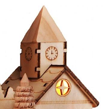 HI Beleuchtete Weihnachtsstadt ca. 28 cm Deko für Weihnachten LED Beleuchtung - 6
