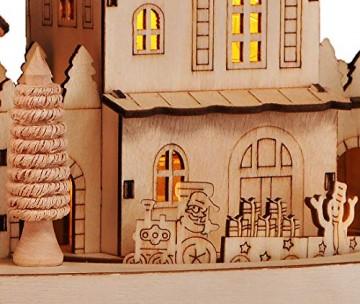 HI Beleuchtete Weihnachtsstadt ca. 28 cm Deko für Weihnachten LED Beleuchtung - 7