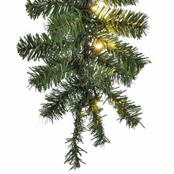 HI Tannengirlande aussen 270 cm - Grüne Girlande mit Lichterkette (40x LED), weihnachtliche Girlande mit Licht als Weihnachtsdeko aussen - 2