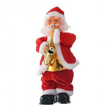 Home & Garden,Halloween & Christmas Home Decor,hahashop2 Weihnachtsmann-Abbildung, die musikalisches Weihnachtsmann-elektrisches Spielzeug singt, verziert Geschenk für Kinder - 1