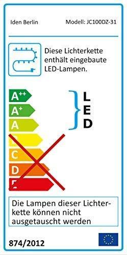 Idena 31814 LED Tannengirlande mit 100 LED warm weiß, ca. 25 cm x 5 m (ohne Draht) - 2