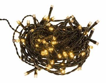Idena 8325058 - LED Lichterkette mit 80 LED in warm weiß, mit 8 Stunden Timer Funktion, Innen und Außenbereich, für Partys, Weihnachten, Deko, Hochzeit, als Stimmungslicht, ca. 15,9 m - 4