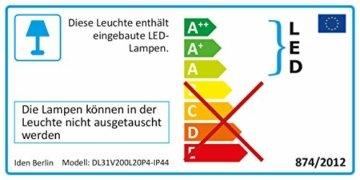 Idena 8325066 - LED Lichterkette mit 200 LED in warm weiß, mit 8 Stunden Timer Funktion, Innen und Außenbereich, für Partys, Weihnachten, Deko, Hochzeit, als Stimmungslicht, ca. 27,9 m - 6