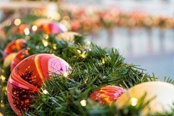 Idena 8325066 - LED Lichterkette mit 200 LED in warm weiß, mit 8 Stunden Timer Funktion, Innen und Außenbereich, für Partys, Weihnachten, Deko, Hochzeit, als Stimmungslicht, ca. 27,9 m - 8